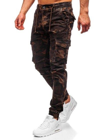 Hnědé pánské jogger kapsáče Bolf CT6017