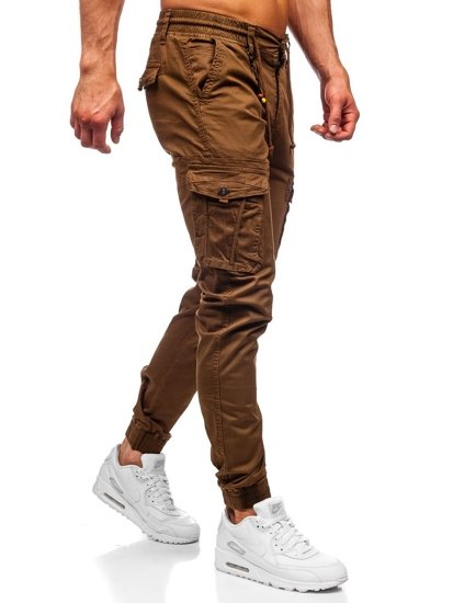 Hnědé pánské jogger kapsáče Bolf CT6703
