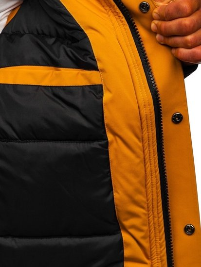 Kamelová pánská zimní bunda Bolf J1905