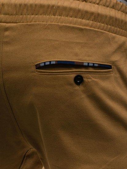 Kamelové pánské jogger kalhoty Bolf 0449-1