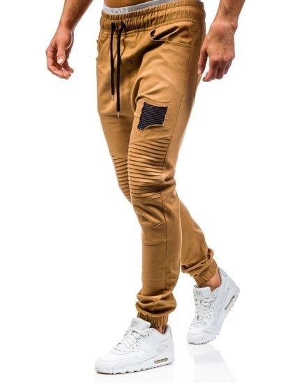 Kamelové pánské jogger kalhoty Bolf 0829