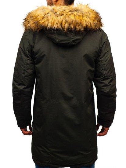 Khaki pánská zimní bunda Bolf 201813