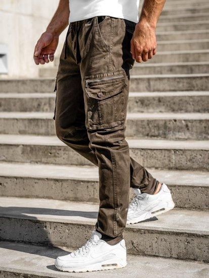 Khaki pánské jogger kapsáče Bolf 8937