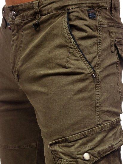 Khaki pánské kapsáčové kraťasy Bolf QS805