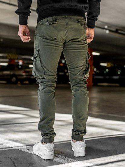 Khaky pánské jogger kapsáče s opaskem Bolf 2752