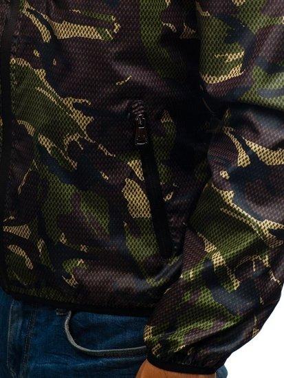Maskáčovo-zelená pánská přechodná bunda Bolf 8007