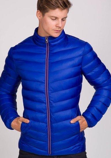 Modrá pánská přechodná bunda Bolf 3082