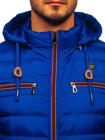 Modrá pánská sportovní zimní bunda Bolf 50A172