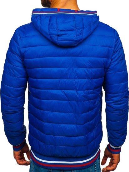 Modrá pánská sportovní zimní bunda Bolf LY1009