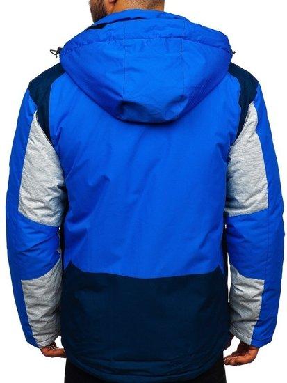 Modrá pánská zimní lyžařská bunda Bolf 1340