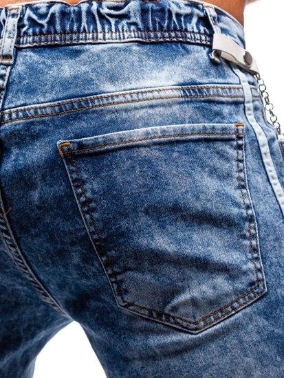 Modré pánské džínové jogger kalhoty Bolf 2057
