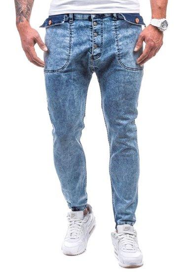 Modré pánské džínové jogger kalhoty Bolf 811