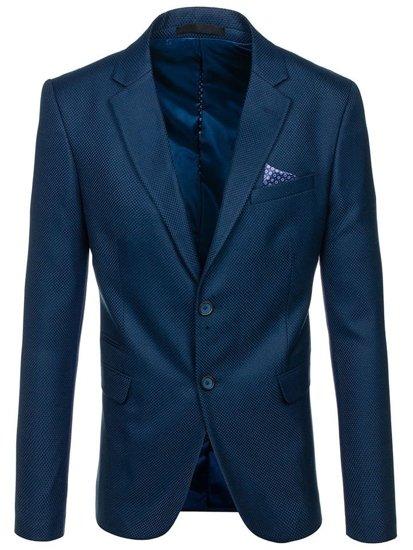 Modré pánské elegantní sako Bolf 2222