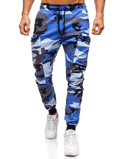 Modré pánské jogger kapsáče Bolf 0475