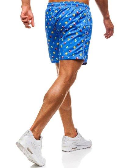 Modré pánské koupací šortky Bolf 2364