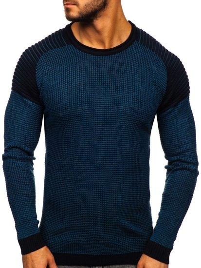 Modrý pánský svetr Bolf 0004