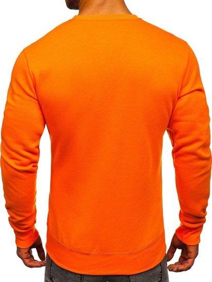 Oranžová pánská mikina bez kapuce Bolf 2001