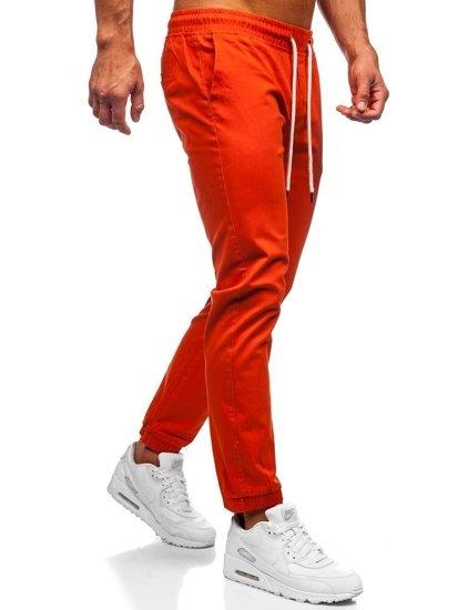 Oranžové pánské jogger kalhoty Bolf 1145