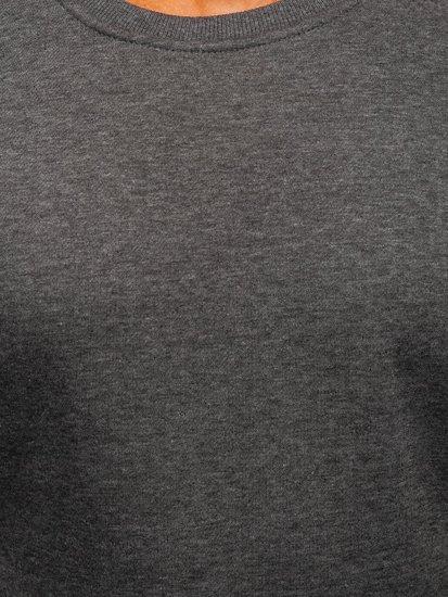 Pánská antracitová mikina bez kapuce Bolf 2001
