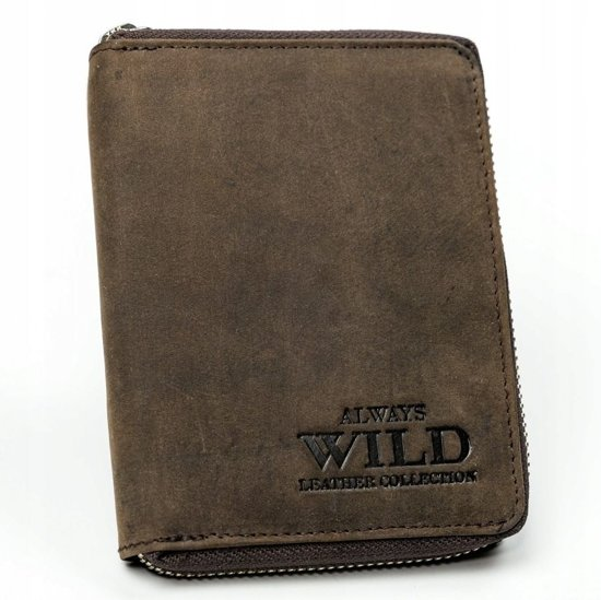 Pánská hnědá kožená peněženka 3152
