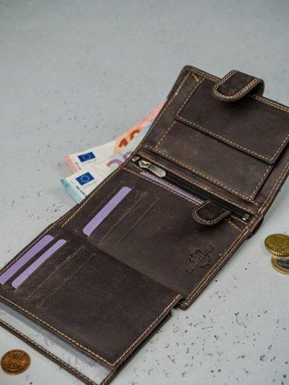 Pánská hnědá kožená peněženka 3175
