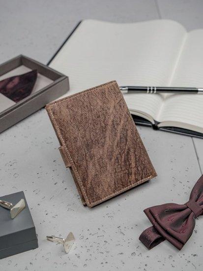 Pánská hnědá kožená peněženka 3196