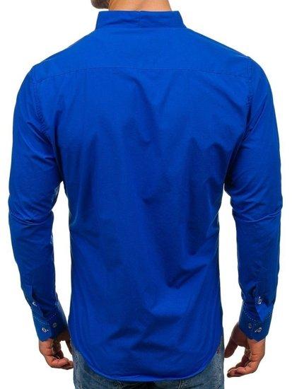 Pánská kobaltová košile s dlouhým rukávem Bolf 5720