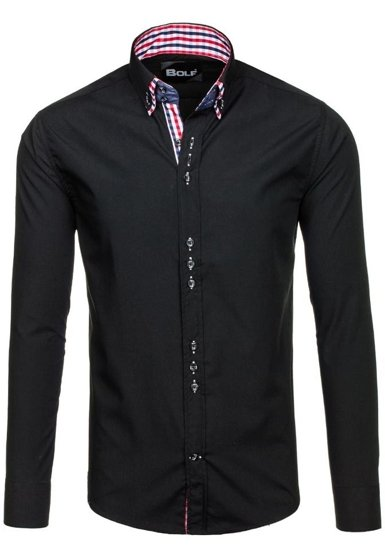 Pánská košile BOLF 0926 černá