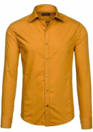 Pánská košile BOLF 1703-2 kamelová