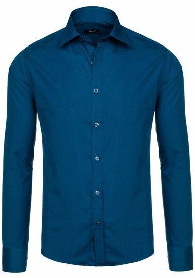 Pánská košile BOLF 1703-2 mořská