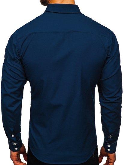 Pánská košile BOLF 1721-1 tmavě modrá