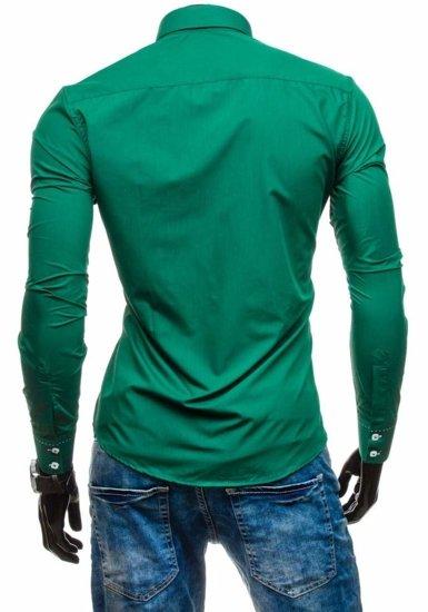 Pánská košile BOLF 1721-1 tmavozelená