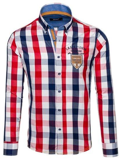 Pánská košile BOLF 1766 tmavě modrá