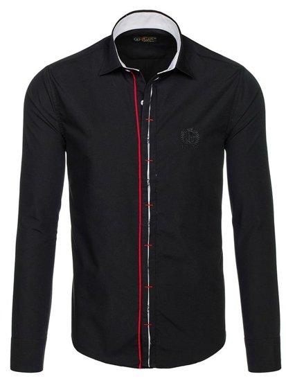 Pánská košile BOLF 1769 černá