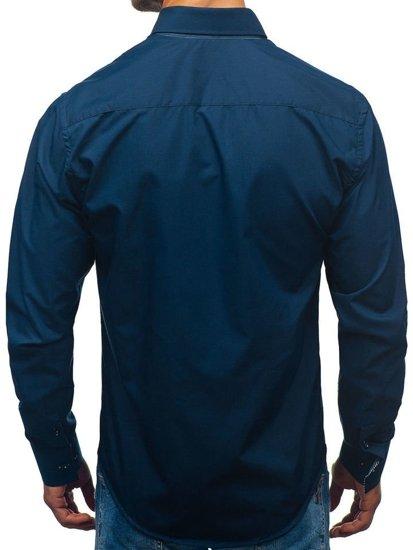Pánská košile BOLF 2774 tmavě modrá