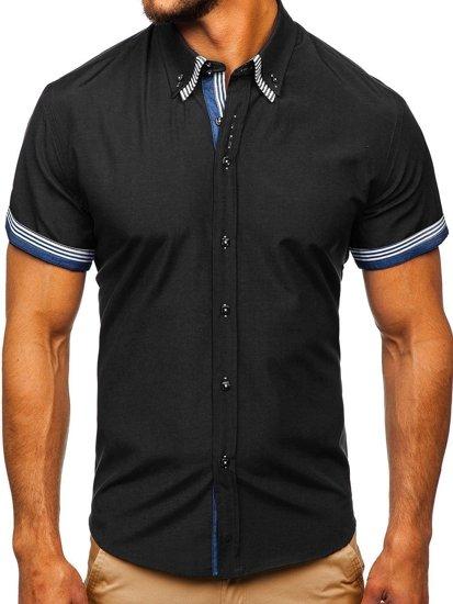 Pánská košile BOLF 2911 černá