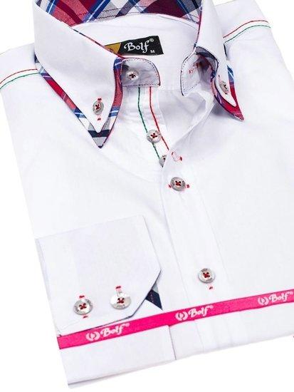Pánská košile BOLF 3701 bílá