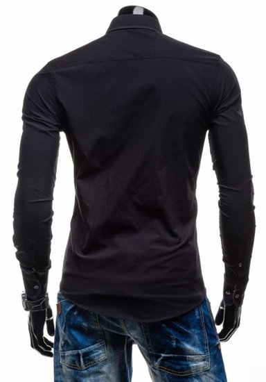 Pánská košile BOLF 3760 černá