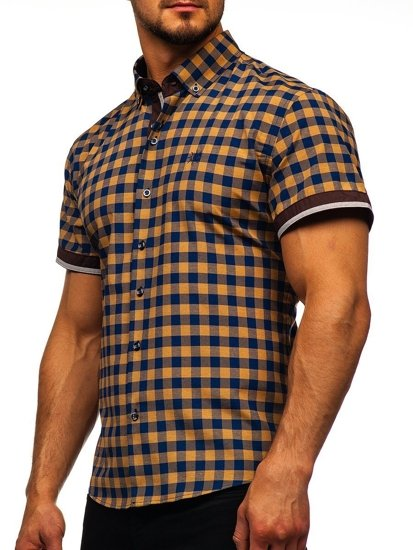 Pánská košile BOLF 4508 hnědá