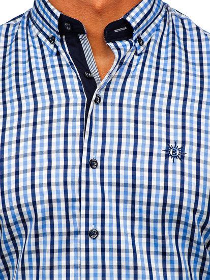 Pánská košile BOLF 4510 blankytná