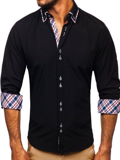 Pánská košile BOLF 4704 černá