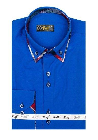Pánská košile BOLF 4704 královsky modrá