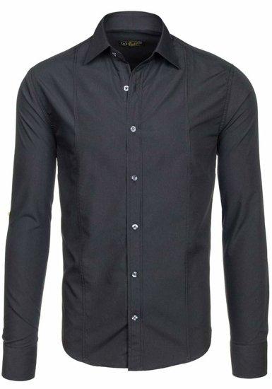 Pánská košile BOLF 4705-G černá