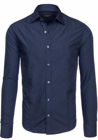 Pánská košile BOLF 4705-G tmavě modrá