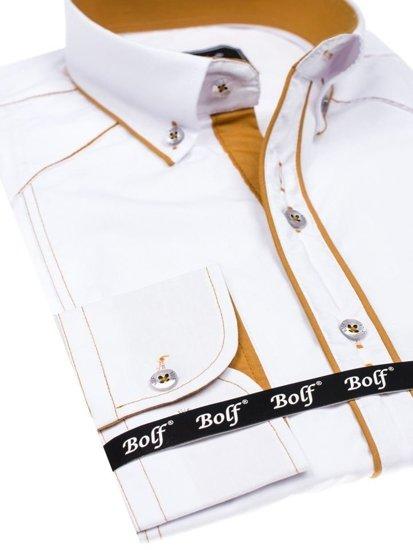 Pánská košile BOLF 4777 bílá