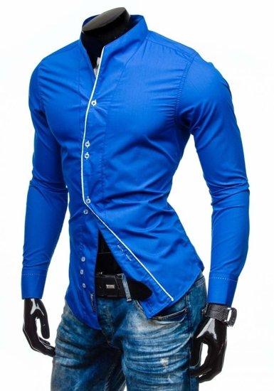 Pánská košile BOLF 5720-1 kobaltová