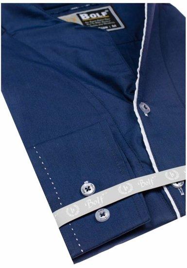 Pánská košile BOLF 5720-1 tmavě modrá