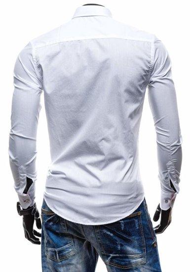 Pánská košile BOLF 5722 bílo-červená