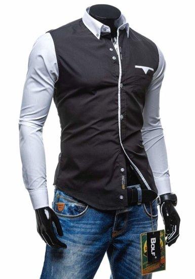 Pánská košile BOLF 5726 černá