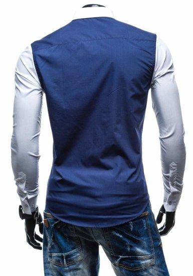 Pánská košile BOLF 5726 tmavě modrá